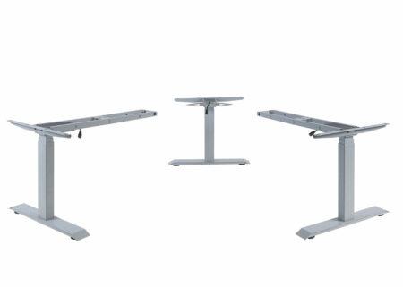3in1 Variables Tischgestell elektrisch höhenverstellbar mit Memory 47kg grau