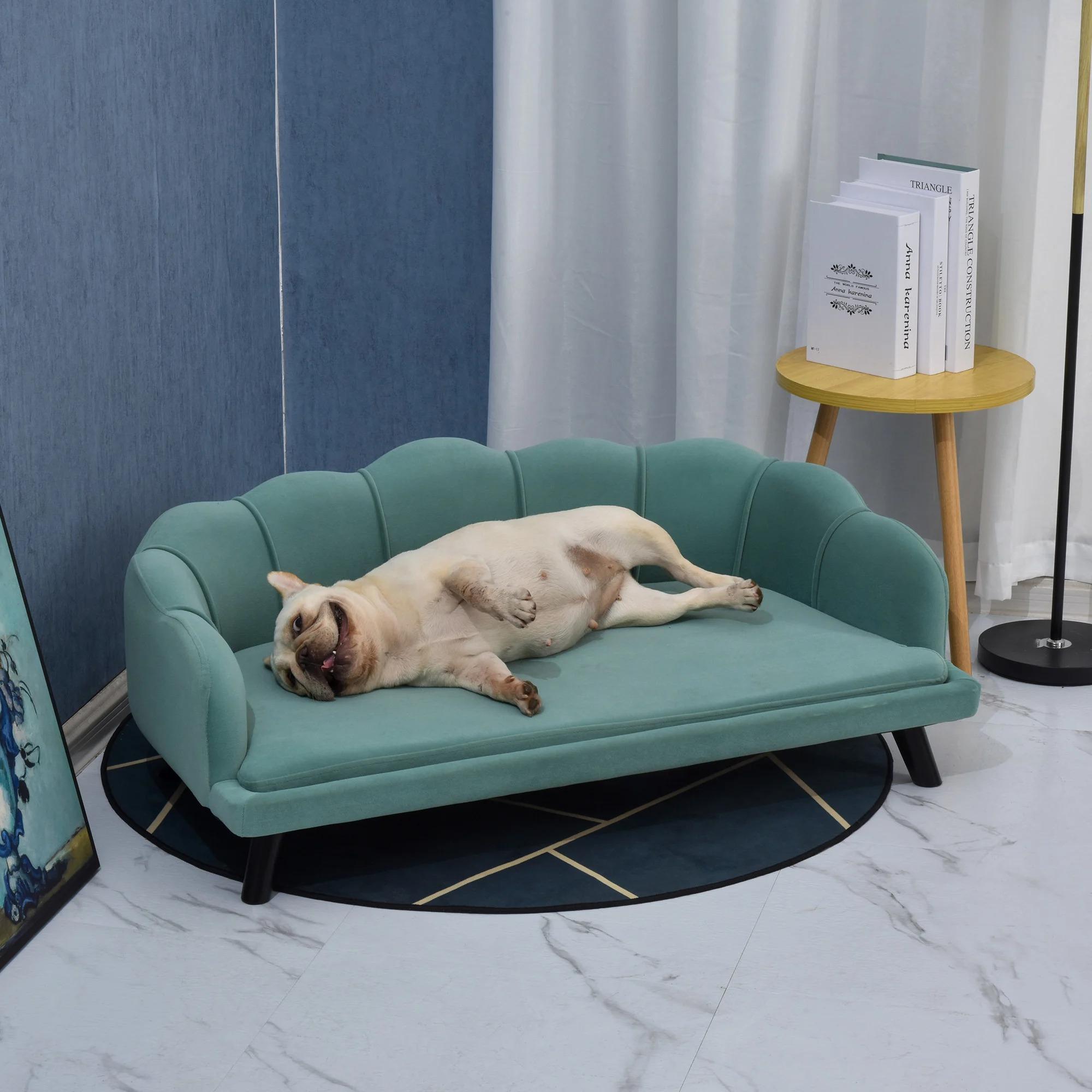 Hundesofa mit weichem Bezug Hundebett grün