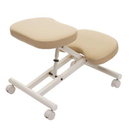 Kniestuhl Sitzhocker Bürostuhl höhenverstellbar mit Rollen creme