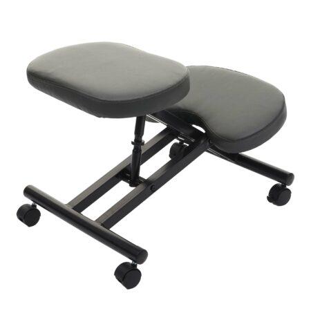 Kniestuhl Sitzhocker Bürostuhl höhenverstellbar mit Rollen schwarz