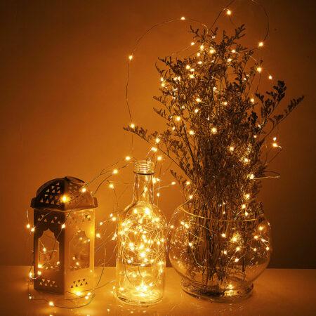 Silberdraht Lichterkette 20-200 LED