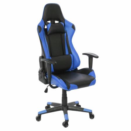 XXL Bürostuhl Racer Gamingstuhl 150kg belastbar schwarz blau