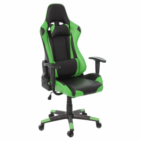 XXL Bürostuhl Racer Gamingstuhl 150kg belastbar - schwarz grün