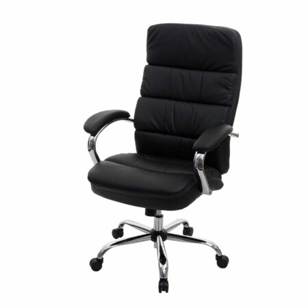 XXL Bürostuhl STRONG 220kg belastbar mit Federkern schwarz
