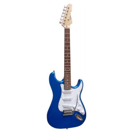 E-Gitarre Massivholz mit Kabel in der Farbe Blau